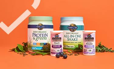 every health banner featuring a selection of garden of life products