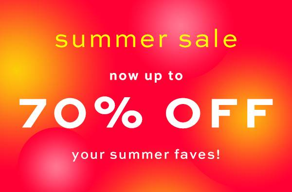 70% OFF SUMMER SALE