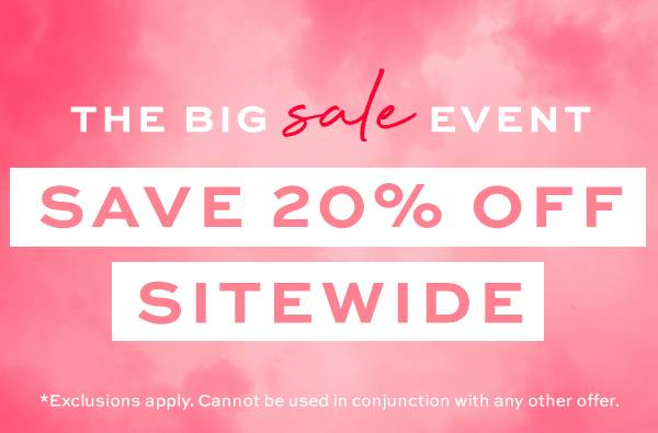 Big 20% off sale event