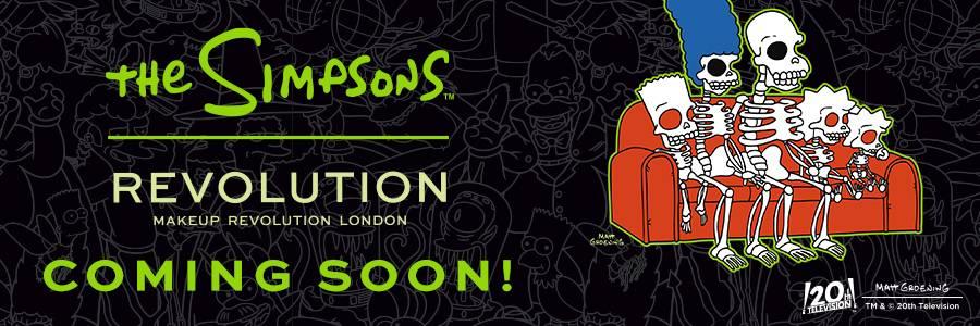 The Simpsons. Revolution Makeup Revolution London. Coming Soon!