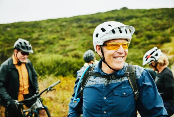 Men and Women Cycling