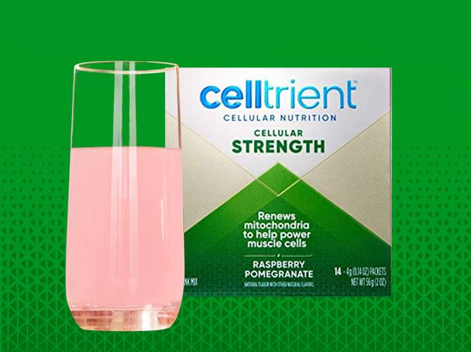 Celltrient Strength Urolithin A drink in Lemon