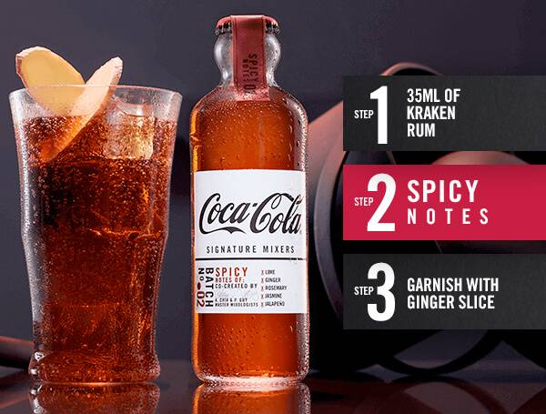 Spicy Notes Coca-Cola signature mixer recipe