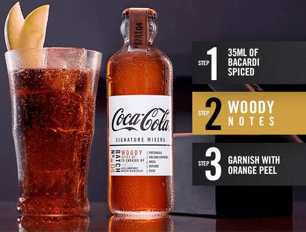 Woody Notes Coca-Cola mixer recipe instructions