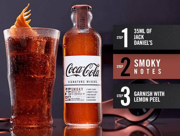Coca-cola mixer - Smoky notes recipe steps