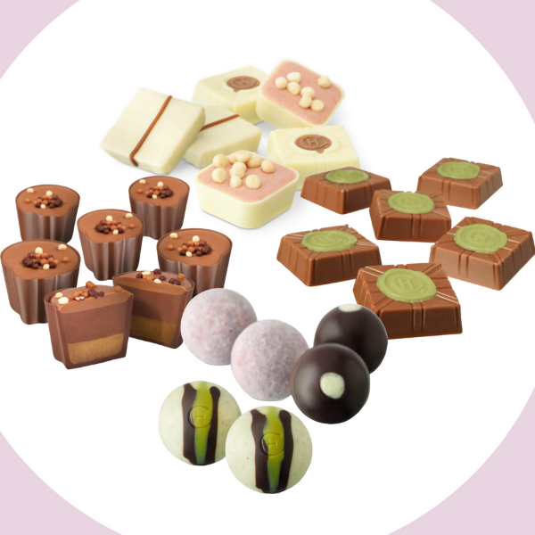 Our hand-curated collection of selectors are the perfect way to get adventurous with your chocolate tasting. Indulge with our Pink Champagne Truffles, try our rich and decadent Fudge Sundae Selector and get back to the classics with The White Collection. Our tasting bundle is the perfect way to try new flavors, or to refill on ones you already love.