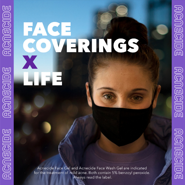 surgical face mask causing acne