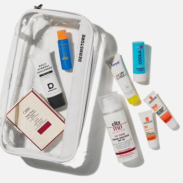 sun care products kit