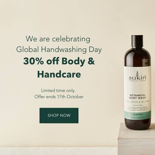 Limited time only, 30% off Body and Handcare. We are celebrating Global Hand-washing Day