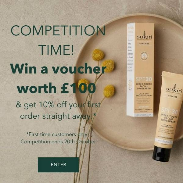 COMPETITION TIME!  Win a voucher worth £100  & get 10% off your first order straight away.*  *First time customers only.  Competition ends 20th October