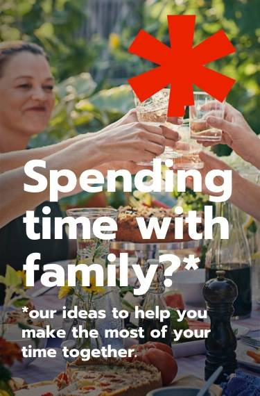 Spending time with family? Our ideas to help you make the most of your time together.
