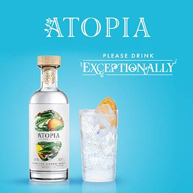 Please drink exceptionally. Atopia ultra-low alcohol spirit