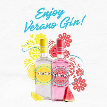 Enjoy Verano Gin! Bursting with Spanish fruit.