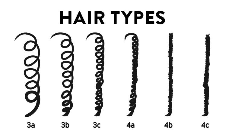 hair type ranging from 3a to 4c