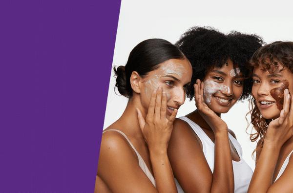 Three women using Andalou masques