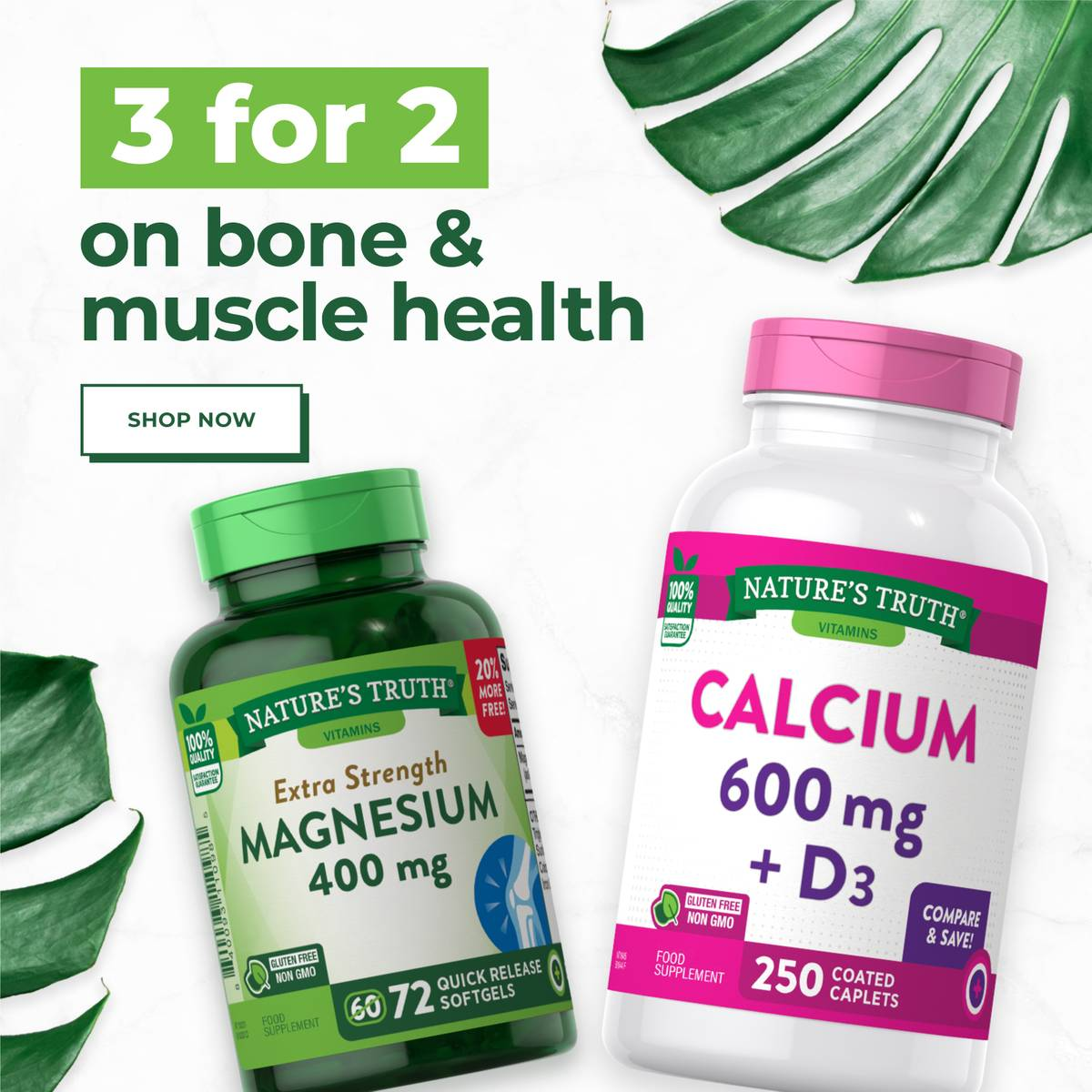 3 FOR 2 ON ALL BONE AND MUSCLE HEALTH