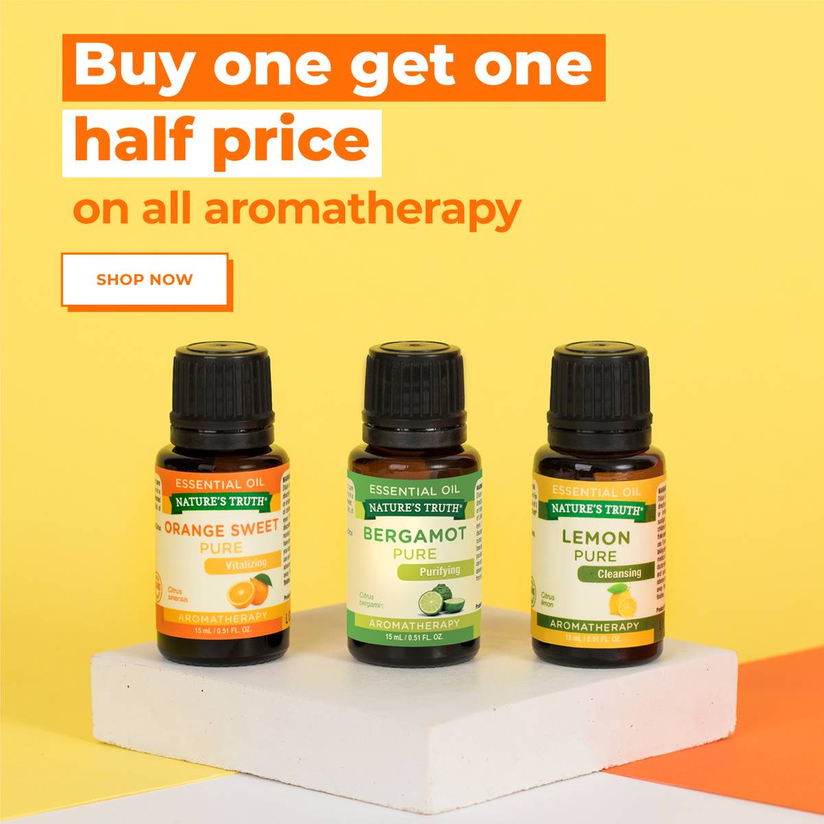 BUY ONE GET HALF PRICE ON ALL AROMATHERAPY