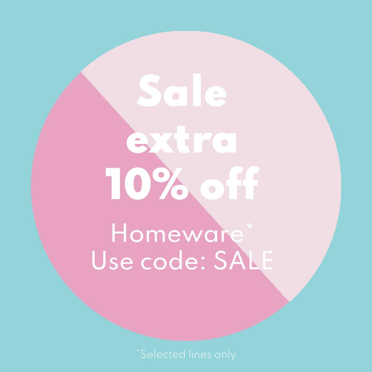Sale - up to 30% off homeware