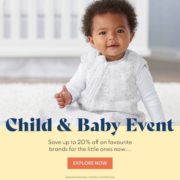 Child & Baby: Up to 20% off