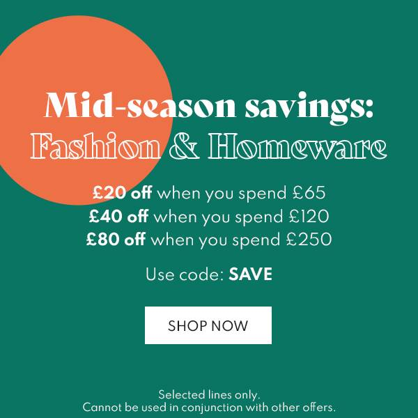 Save up to £80 in our spend & save event