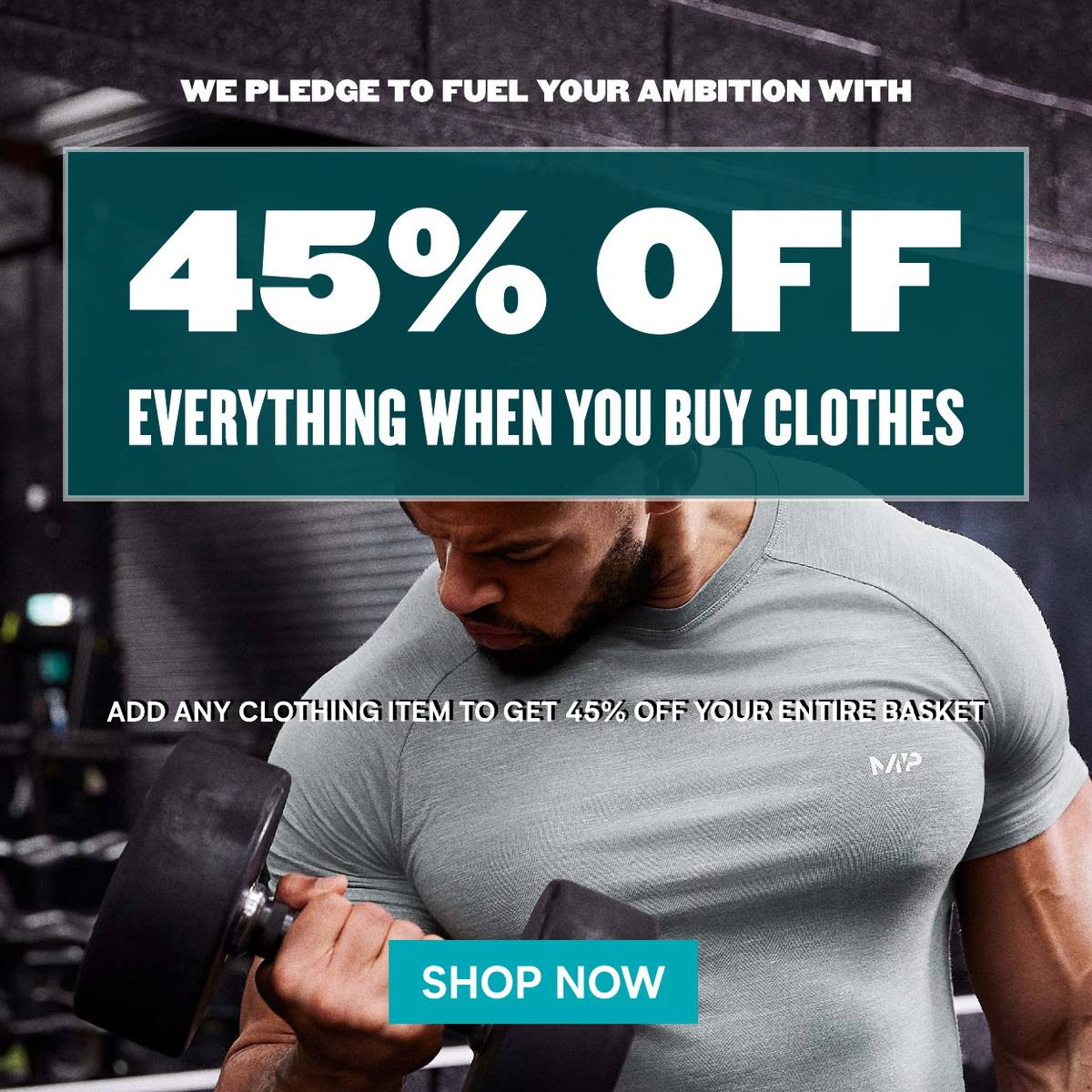 45% off everything when you buy clothes