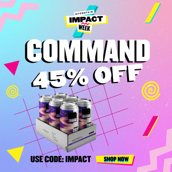 Command Gaming Nutrition 45% OFF. Use Code: Impact. Shop Now. Myprotein Impact Week.