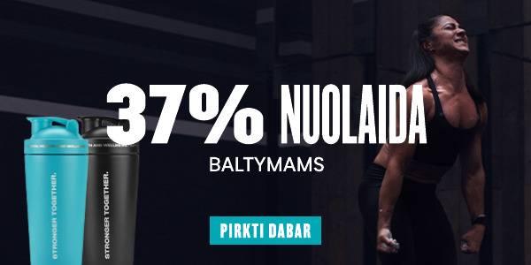 37% nuolaida baltymams