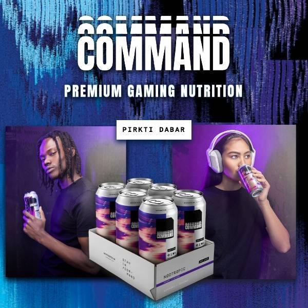 Command. Premium Gaming Nutrition. Pirkti dabar.