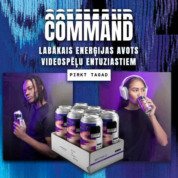 Command. Premium Gaming Nutrition. Shop Now.