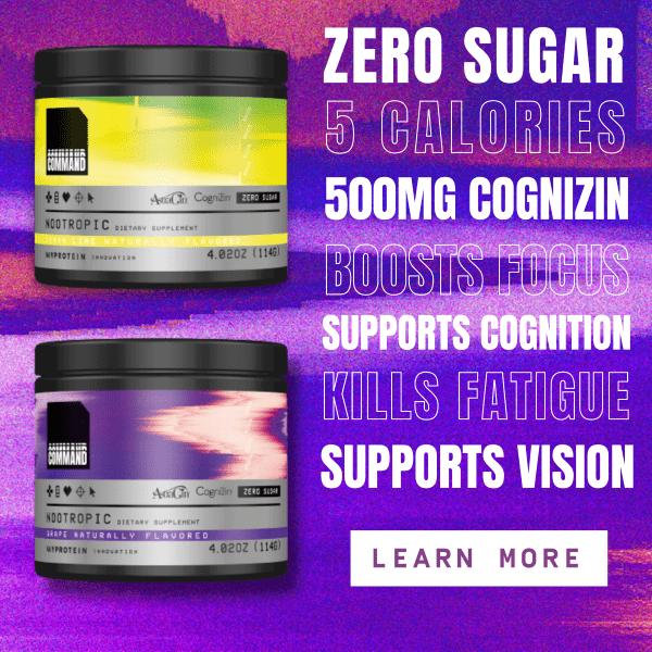 Zero Sugar | 5 Calories | 500mg Cognizin | Boosts Focus | Kills Fatigue | Supports Vision | Learn More