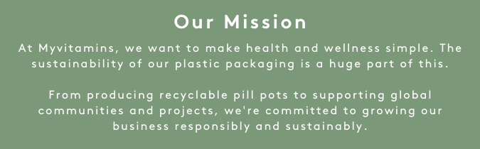 Let's Talk Plastic - Our Mission I Myvitamins