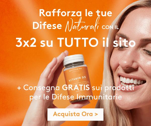 3x2 su TUTTO il sito + Consegna GRATIS sui prodotti per le Difese Immunitarie | Myvitamins Italia