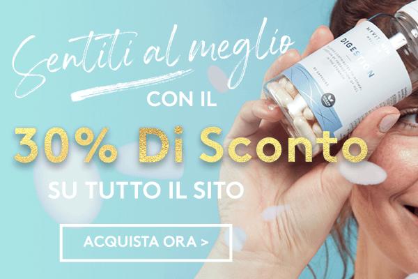30% di sconto su TUTTO il sito | Myvitamins Italia