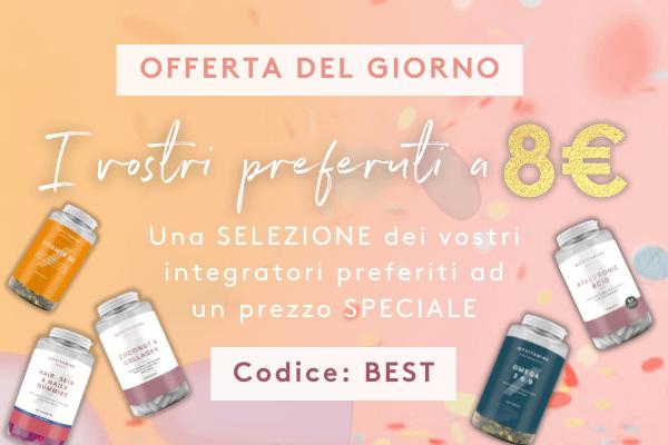 Bestseller a 8€ - Codice: BEST   Myvitamins Italia