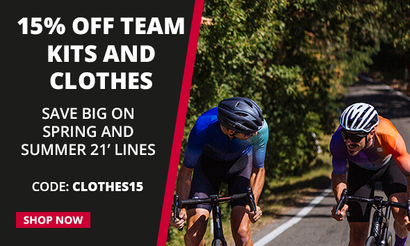15% off team kits and clothes with code CLOTHES15