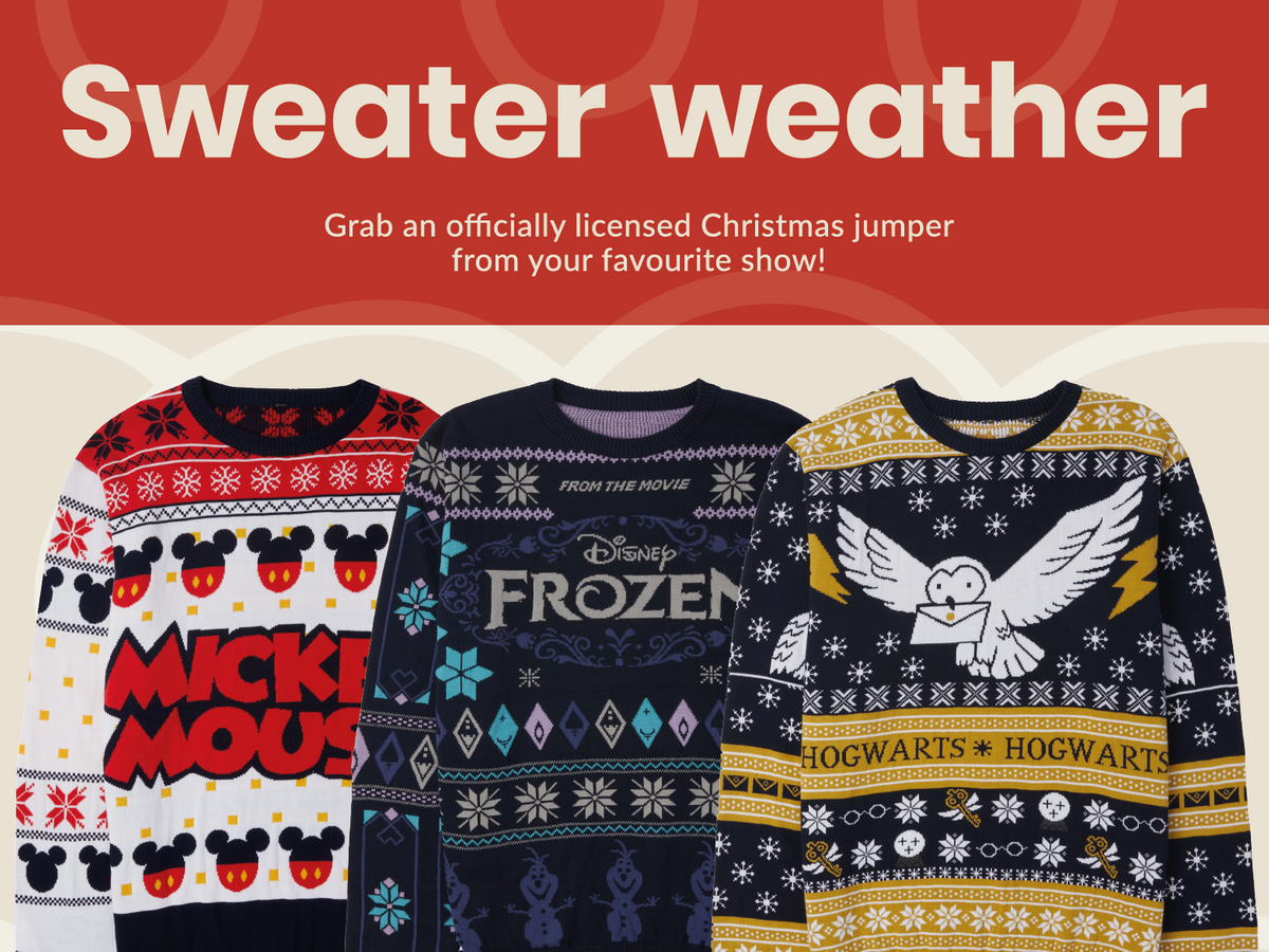 Officially Licensed Knitted Christmas Jumpers