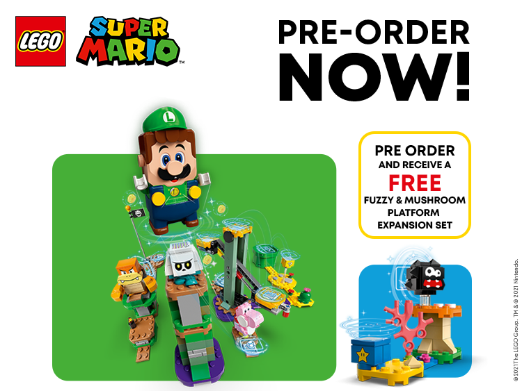 LEGO x Super Mario Luigi Pre - Order