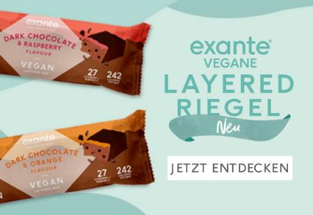 exante Vegan Layered Bars. Shop Now!