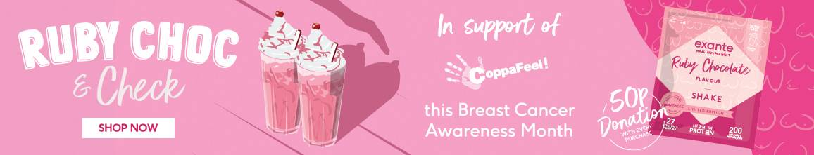 Ruby Choc & Check - Try our NEW Ruby Chocolate flavour shake supporting CoppaFeel! this Breast Cancer Awareness Month. We will donate 50p from every shake to Coppafeel