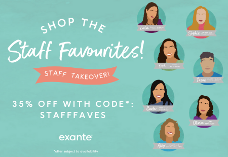 Shop the staff favourites! 35% off with code: STAFFFAVES