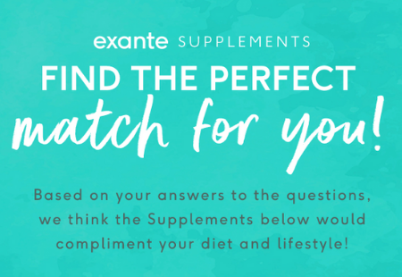 Based on your answers, these supplements could be a good fit for you!