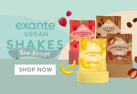 exante Vegan Shakes New Recipe 'Shop Now'