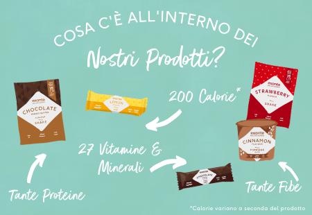 Frullati e Barrette Exante Diet Italia