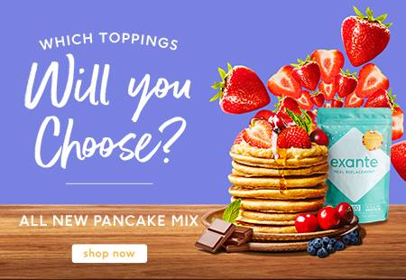 Which toppings will you choose? All new pancake mix. Shop now