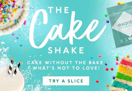 The Cake Shake. Cake without the bake, what's not to love! Try a slice.