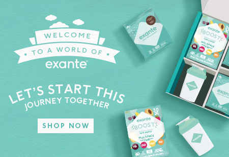 Welcome to a world of exante. A simple way to order a variety of products! Try our new starter box today!