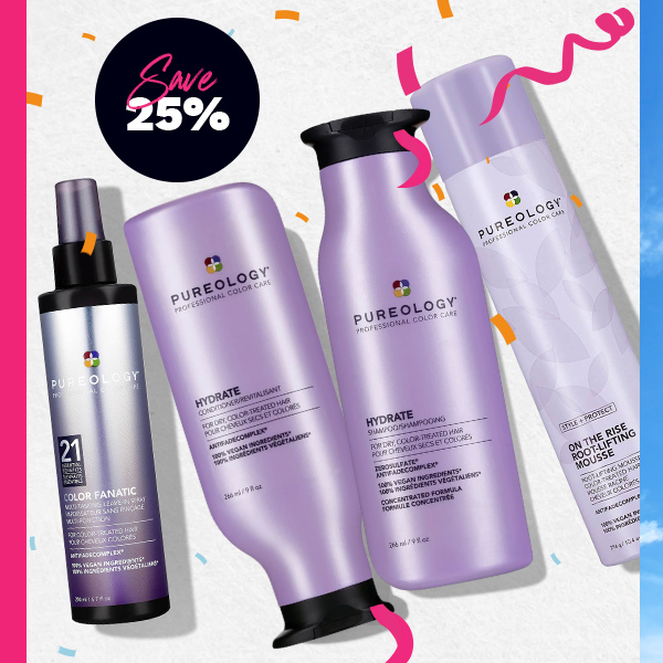 Celebrate 3 years of FANTASTIC with 25% off the Pureology range today!