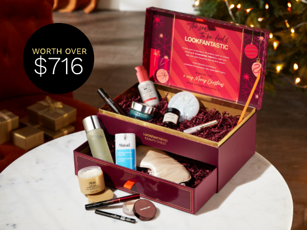 Grab the 2021 LOOKFANTASTIC Beauty Chest worth over $716 for only $190! Don't miss out.