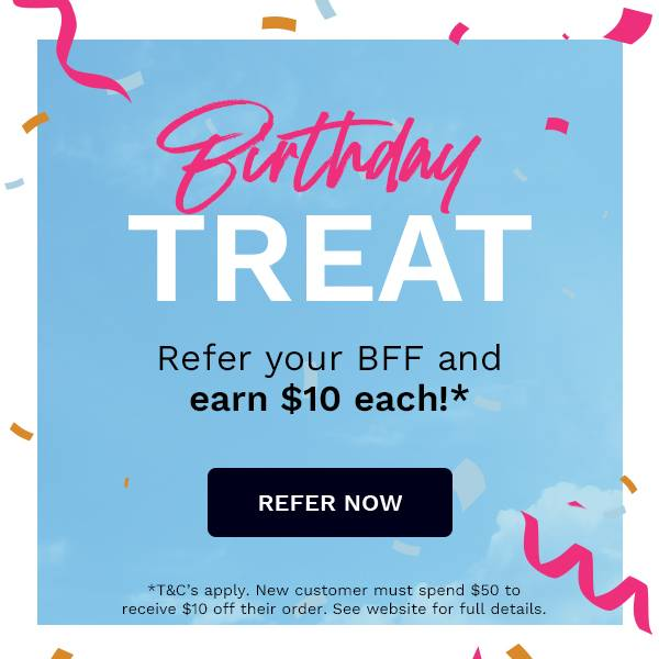 Refer your BFF and earn $10 each when you shop at LOOKFANTASTIC