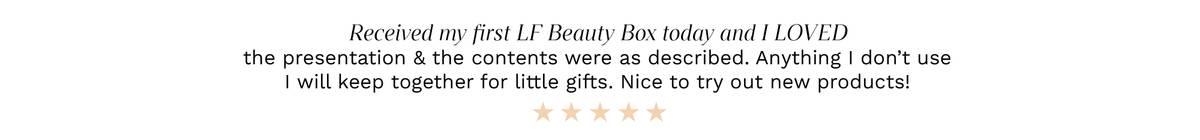 Beauty Box Quote
